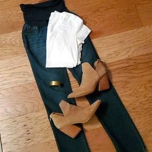 Straight Leg Maternity Jeans Small Secret Fit